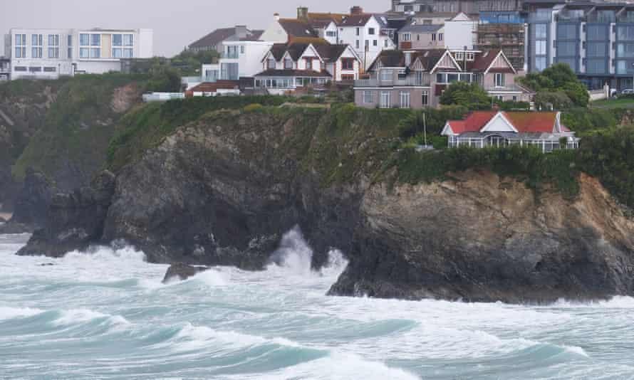 Rough seas at Towan Beach in Newquay, Cornwall