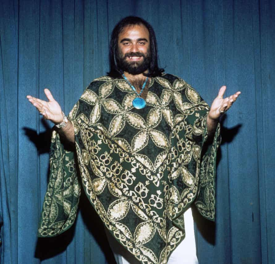 Demis Roussos in one of his famous kaftans