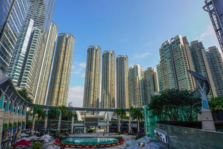Civic Square in West Kowloon. The luxury shopping mall, apartments and two five-star hotels above the station were all developed or are now owned and managed by the MTR.