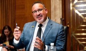 Secretary of Education Miguel Cardona at a Senate Appropriations Committee Hearing in Washington last month.