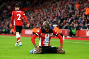 Moussa Djenepo of Southampton wears a look of dejection in their 2-1 defeat to Everton – their sixth in seven games.