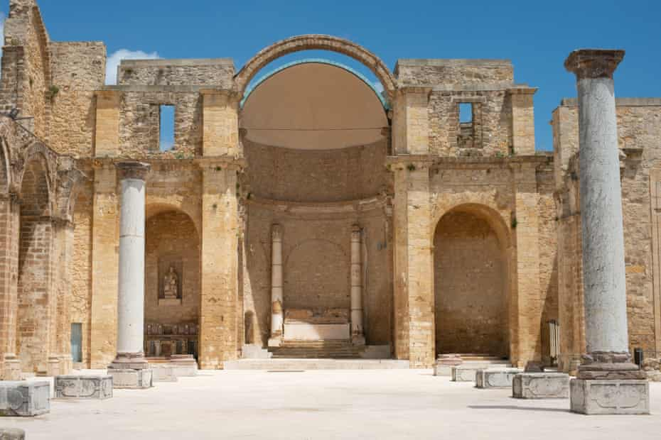 The controversial piazza in what was Salemi's the 17th-century Chiesa Madre.