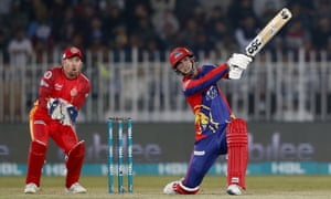 Alex Hales in action for the Karachi Kings in the Pakistan Super League this month.