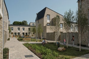 Goldsmith Street social housing in Norwich by Mikhail Riches architects.