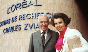 Liliane Bettencourt with her husband André Bettencourt in 1992.