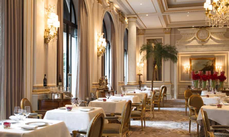 The scene of the crime: Le Cinq at George V Hotel.