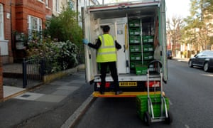 Waitrose delivery in Balham, London, this April.