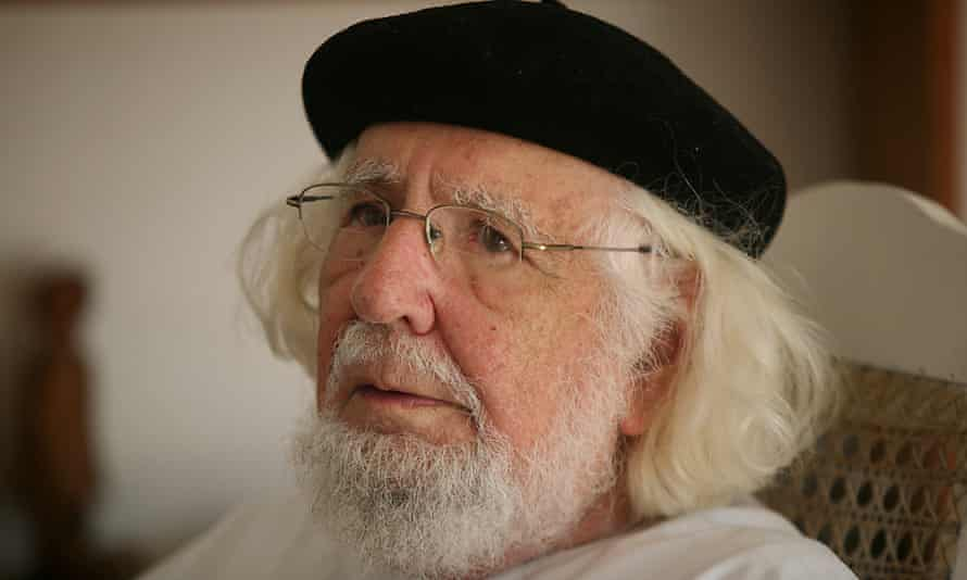 Ernesto Cardenal at home in Managua, 2008.