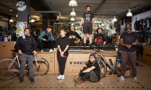 Photo of the team at Brixton Cycles in Brixton, London