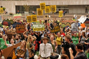 Protesters opposed to mountaintop removal in Washington DC.
