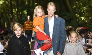 Father's day: sexy young dads were centre-stage at the Balenciaga show in Paris.
