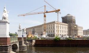 The Humboldt Forum museum under construction in Berlin