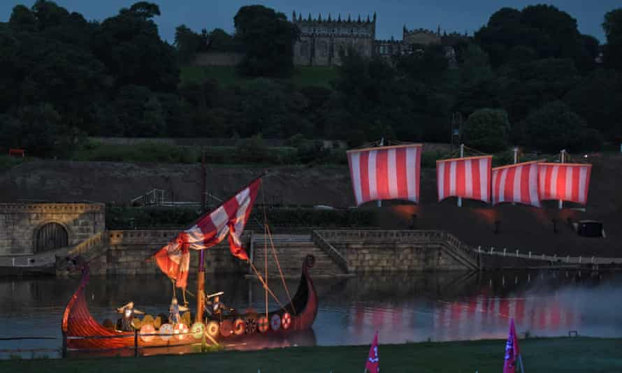 Viking hordes sail into the natural amphitheatre in the grounds of Auckland Castle.