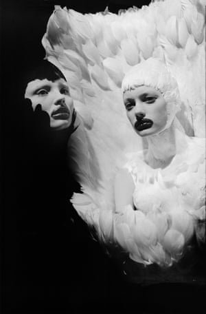"""Unfallen Angels I, Paris, 2009, by Ann RayAnn Ray's 13-year friendship with Alexander MqQueen is the basis of her solo show at Atelier des Forges, Parc des Ateliers. """"We both wanted to tell stories,"""" she says, """"each with our own medium. Until his death in 2010, he open‐heartedly let me photograph everything. Nothing was off limits."""""""