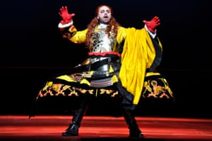 Michael Spyres as Mitridate in Mozart's Mitridate, Re di Ponto, at Royal Opera House.