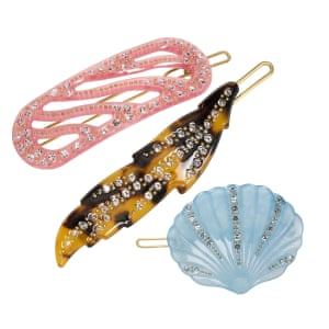 Clip artThese pretty hair slides from Danish brand Pico bring an early touch of spring colour in pleasing pastel shades and vintage-look tortoiseshell – and they look as good on your dressing table as they do in your hair. From £9, picocopenhagen.com