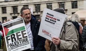 Protesters at a pro-Gaza event in London in April this year