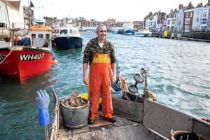 Fisherman in Weymouth harbour.