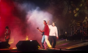 'The sound was appalling and their performance was messy. And yet nobody cared' ... the Stone Roses performing at Spike Island.