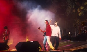 The Stone Roses performing at Spike Island on 27 May 1990.