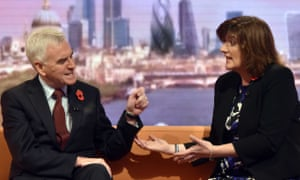 John McDonnell and Nicky Morgan discussing tax credits on the Andrew Marr Show.