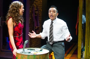Josie Benson (Camila) and David Bedella (Kevin) in Lin-Manuel Miranda's In the Heights.