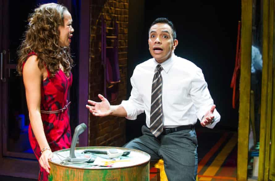 Josie Benson (Camila) and David Bedella (Kevin) in Lin-Manuel Miranda's In the Heights.