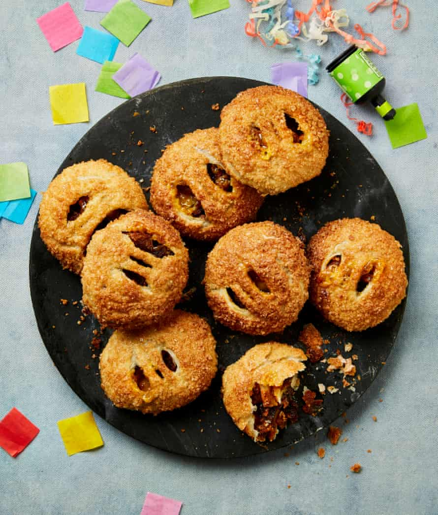 Yotam Ottolenghi's Christmas pudding eccles cakes with marzipan