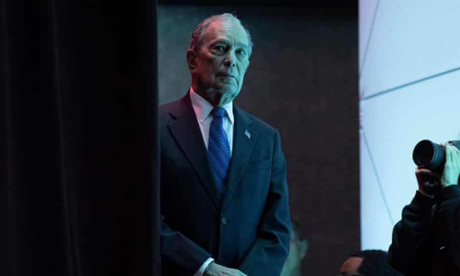 Mike Bloomberg prepares to speak in Washington DC.
