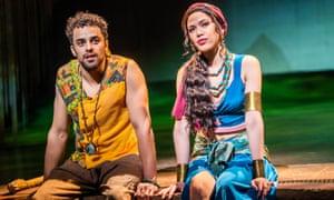 Luke Brady (Moses) and Christine Allado (Tzipporah) in The Prince of Egypt