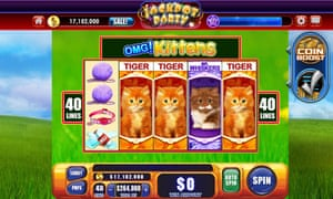 OMG! Kittens, one of several gambling-themed apps made by the US firm Scientific Games.