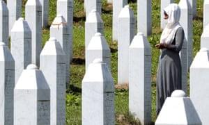 The Potocari Memorial Center in Srebrenica, Bosnia and Herzegovina.