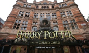 The entrance to the Palace theatre before the opening of Harry Potter and the Cursed Child.