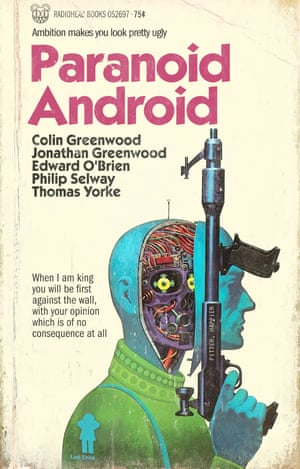 Paranoid Android by Radiohead reinvented as a pulp fiction book cover by graphic artist Todd Alcott.