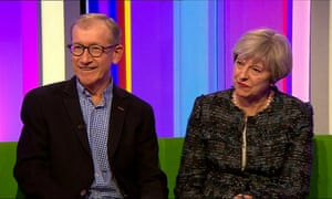 Phil and Theresa May appear on The One Show.