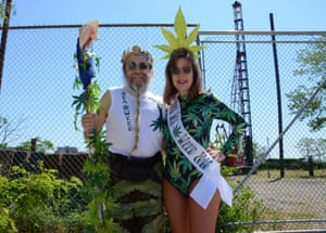 Sea Weed King and Queen Tony and Deborah Natale from New York