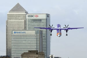 Travel stockA Flybe plane takes off at London City Airport.