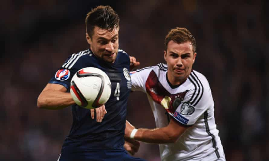 Russell Martin, in action for Scotland against Germany in 2015, says: 'I'm past the point of worrying what others think.'