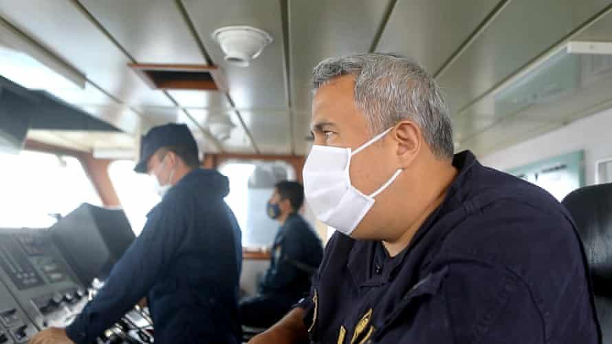 Peruvian Coastguard Commander Eduardo Atkins