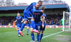 Aaron Wilbraham is congratulated by Rochdale teammates on his goal against Newcastle at a packed Spotland, but St James' Park on Tuesday will not be so full.