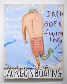 Jack Goes Swimming (Jack), 2013, by Rose Wylie.