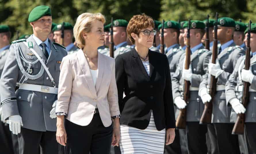 Annegret Kramp-Karrenbauer, right, and Ursula von der Leyen
