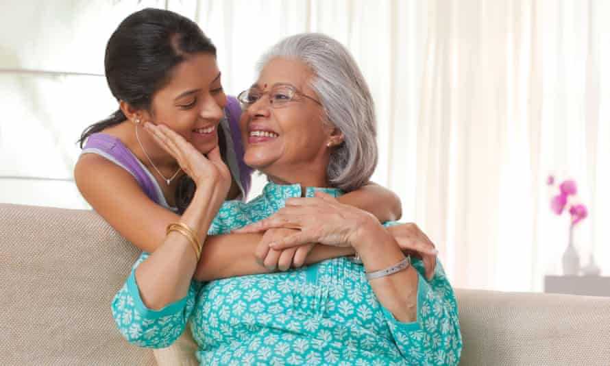 Portrait of a grandmother and granddaughter