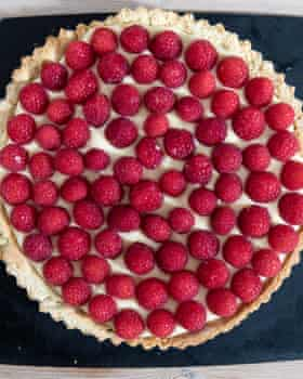Tim Dowling's raspberry tart.