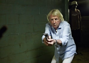 Rick Parfitt shoots scenes for the action film Bula Quo!