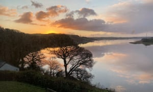 Dawn over the Tamar at South Hooe.
