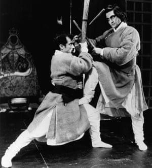 Vincent Ebrahim and Nirmal Chandra Pandey in Tara Arts's Troilus and Cressida in 1993