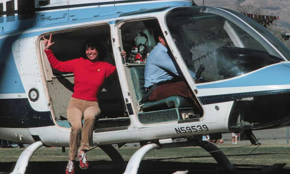 Kitty O'Neil preparing for a stunt that would see her jump from a helicopter hovering 180 feet above the ground onto airbag. She said the airbag looked like a postage stamp from that height.