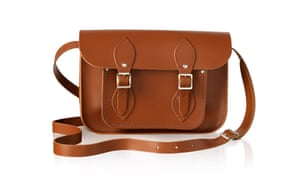 A brown leather satchel.