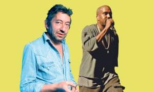 Serge Gainsbourg and Kanye West